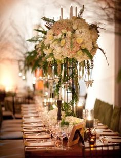 New York Wedding at the Chelsea Art Museum by Allan Zepeda Reception Table, Reception Decorations, Wedding Table, Table Decorations, Wedding Receptions, Floral Centerpieces, Wedding Centerpieces, Floral Arrangements, Tall Centerpiece