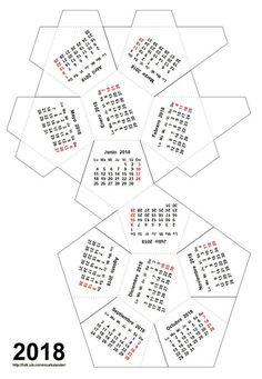 Ole Arntzen (Universitetet i Bergen, Noruega) tiene a tu disposición en su página web las plantillas para construir calendarios dodecaédricos para 2018 en todos los idiomas que quieras (castellano,…