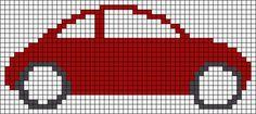 Alpha friendship bracelet pattern added by cuteturtle. Knitting Squares, Kids Knitting Patterns, Baby Hats Knitting, Knitting Charts, Mini Cross Stitch, Cross Stitch Charts, Cross Stitch Patterns, C2c Crochet Blanket, Crochet Car