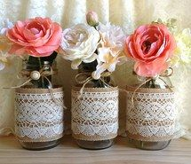 outside vintage wedding decoration ideas with lanterns and lace - Google Search