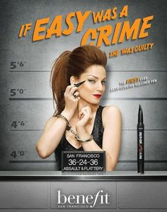 ¡Benefit presenta el They're Real Push Up Liner! - Cranberry Chic