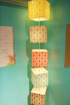 Paper Lantern Lamp ( original from IKEA - jazzed up with paper overlays -)