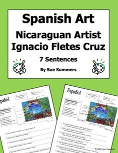 Spanish Art - Nicaraguan Artist Ignacio Fletes Cruz 7 Questions and 10 Image IDs Spanish Art, Learning Spanish, Bring It On, This Or That Questions, Learn Spanish