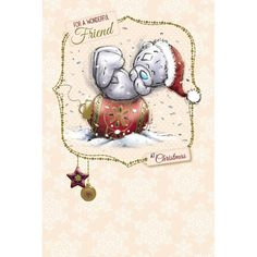 Friend Me to You Bear Christmas Card  £2.49