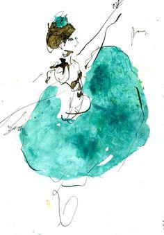 #イラスト #バレリーナ #アート #ドローイング #インク #ペン #シンプル #デザイン #動物 #女の子 #男の子 #シンプル #バレエ #ラバヤデール…