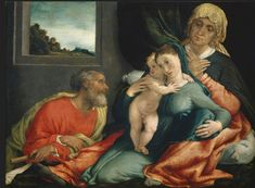 Madonna con Bambino, sant'Anna e San Gioacchino. 1535. Courtauld Institute