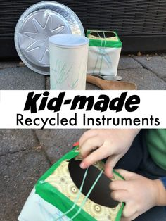 Recycled Instruments - playing with sound and a fun craft for preschoolers and toddlers!