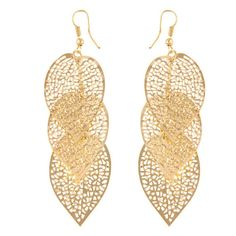 1 Pair Women Leaves Dangle Earrings The leaves you wear are an honour for the tree you just planted. Thank-you for loving the earth and being the change!