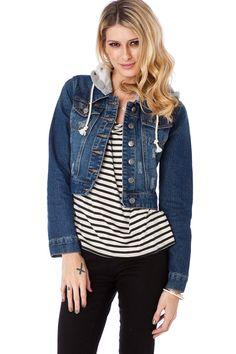 ShopSosie Style : Keeper Cropped Denim Jacket