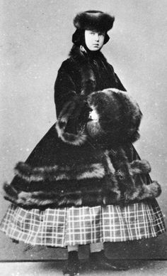 Her Imperial Highness Grand Duchess Marie Alexandrovna of Russia (1853-1920), daughter of Tsar Alexander II of Russia. She would eventually marry Prince Alfred, Duke of Edinburgh, the second son of Queen Victoria. She would then become the mother of Queen Marie of Romania