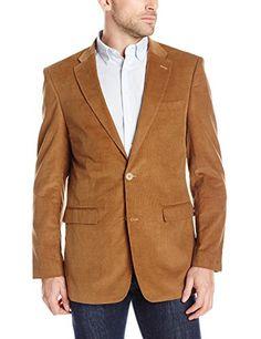 Tommy Hilfiger Men's Khaki Willow Fine Cord 2 Button Sport Coat