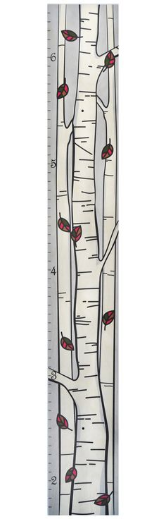 Tree of Life Wooden Ruler Growth Chart \/ Kids by GrowthChartArt - boys growth chart