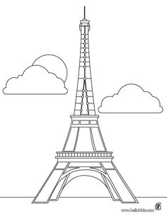 Eiffel tower coloring page. You can print out this Eiffel tower coloring page, but you can also color online. Hellokids members love this Eiffel tower . Eiffel Tower Clip Art, Eiffel Tower Craft, Eiffel Tower Drawing Easy, Online Coloring Pages, Colouring Pages, Printable Coloring Pages, Coloring Book, Image Tour Eiffel, Tour Effel