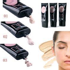3 colores de maquillaje fundación mate aceite hidratante corrector crema BB