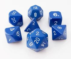 Metal Dice (Blue) RPG role playing game dice