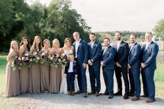 Nautical Meets Bohemian Maryland Wedding by Sarah Aaron Photography. As seen on United with Love, a source for Maryland wedding inspiration. Tan Bridesmaids, Tan Bridesmaid Dresses, Tan Dresses, Taupe Wedding, Blue Suit Wedding, Blue Bridal, Blue Groomsmen Suits, Blue Suits, Summer Wedding Colors