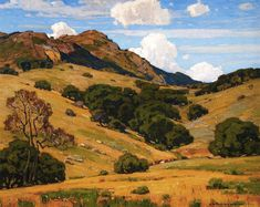 paintingbox:  William Wendt. To Mountain Heights and Beyond, 1920. Oil on Canvas. 40 x 50 in (101.6 x 127)