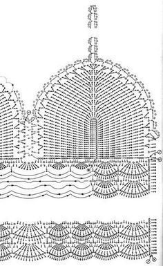 32 amazing image of crochet bra pattern Pictures of crop top crochet pattern view in gallery granny crop with ribbon RUHPYSD Popular crop top crochet pattern häkel bikini. top crochet passo a passo - Bu tops a crochet paso a paso ile ilgili görsel sonuc Tops A Crochet, Débardeurs Au Crochet, Beau Crochet, Crochet Diagram, Motif Bikini Crochet, Fashion Bubbles, Knitting Patterns, Crochet Patterns, Coachella Festival