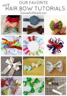 12 of our favorite Easy Hair Bow Tutorials. Cute!