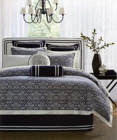 Mix And Match White And Blue Bedding For A Clean Fresh