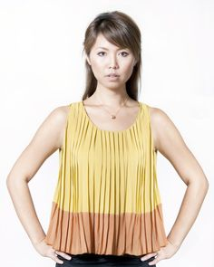 Alley Pleated Top