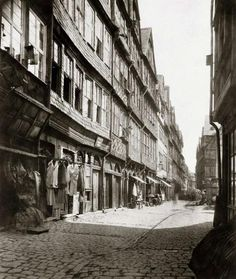 Die ehemalige Judengasse, kurz vor dem Abriss