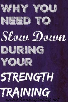 Why you need to slow
