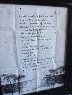 A poem for the sea-a great gift