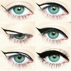 Winged eyeliner is a whole lot easier with this trick. To get the perfect flick … Winged eyeliner is a whole lot easier with this trick. To get the perfect flick in Step hold your eyeliner… Eyeliner Hacks, How To Apply Eyeliner, Easy Eyeliner, Perfect Eyeliner, Eyeliner Application, Eyeliner Flick, Eyeliner Makeup, Cat Eye Eyeliner, Make Up Tutorial