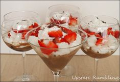Mocha Strawberry Trifle with International Delights Light Iced Coffee