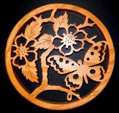free scroll saw patterns - pretty trivet or wall plaque...
