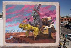 We can't take our eyes off these artworks by Antonio Segura Donat, aka Dulk, a visual artist based in Valencia, Spain. More street art via… Murals Street Art, Graffiti Art, Surrealism Painting, Pop Surrealism, Old Encyclopedias, Urbane Kunst, Grid Design, Street Artists, Urban Art