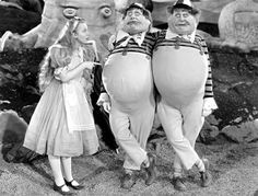 Charlotte Henry as Alice in the all-star 1933 'Alice in Wonderland' movie. W.C. Fields played Humpty Dumpty.