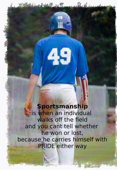 Sportsmanship is something that is lost in sports today. Teach your kids to be good sports, coachable, and humble. Baseball Bases, Baseball Tips, Baseball Mom, Baseball Players, Football, Baseball Stuff, Baseball Shirts, Travel Baseball, Baseball Girlfriend