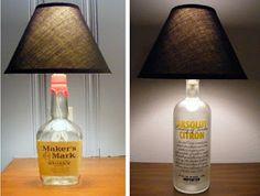 EcoNotas.com: Lámparas con Botellas de Vidrio Reutilizadas, Accesorios Sostenibles para el Hogar