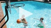 "Check out S.Smith's action video: ""Game On"" featuring the Swim N' Dunk Basketball Game! Pool Basketball, Pool Games, In Ground Pools, More Fun, Video Game, Swimming, Backyard, Action, Check"