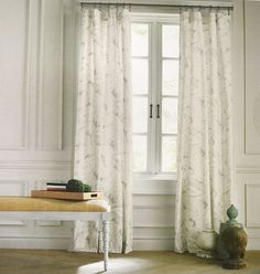 Tommy Hilfiger Mission Paisley Grey Beige Gray 2pc Window Curtain Panels 96 PAIR #TommyHilfiger #Contemporary
