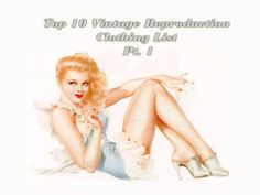 The Nostalgic Series: Top 10 Vintage Reproduction Clothing List Pt. 1