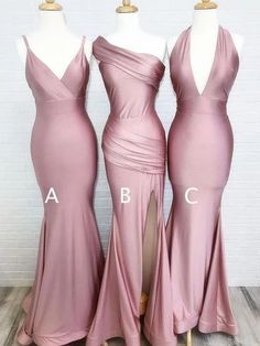 dusty rose wedding Simple Dusty Rose Cheap Mermaid Long Bridesmaid Dresses Online, bridesmaiddresses are fully lined, chest pad in the bust, lace up back or zipper back are Satin Bridesmaid Dresses, Wedding Bridesmaids, Prom Dresses, Wedding Dresses, Cheap Dresses, Beautiful Bridesmaid Dresses, Mermaid Style Bridesmaid Dresses, Lilac Bridesmaid, Bridemaid Dresses Long