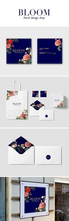 Bloom Floral Brand Stationary and Logo Design/Mockup