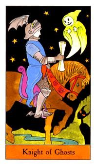 October 31 Tarot Card: Knight of Cups (Halloween deck) Good things lie ahead ... keep going, you can reach them
