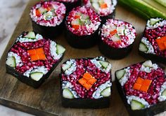 Vegan and gluten-free sushi platter recipe