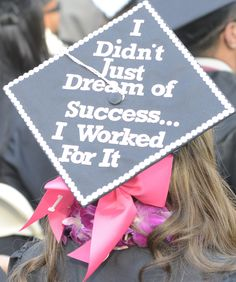 "School of Business Commencement  ""I didn't just dream of success...I worked for it. #URBulldog2016"