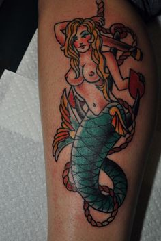 50 beautiful and cute mermaid tattoos designs and ideas - mermaid tattoo . - 50 beautiful and cute mermaid tattoos designs and ideas – mermaid tattoos – … – 50 beaut - Pin Up Tattoos, Trendy Tattoos, New Tattoos, Girl Tattoos, Tatoos, Flag Tattoos, Sunset Tattoos, Body Tattoos, Vintage Mermaid Tattoo