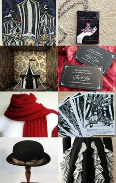 Night circus  dress code  circus folk or Revers wore a red scarf to     The Night Circus by Kerry Gauthier on Etsy  Pinned with TreasuryPin com
