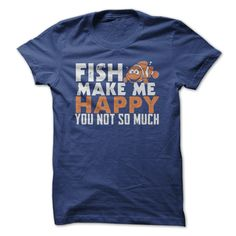 #tshirts... Awesome T-shirts (Cool T-Shirts) Fish make me pleased . MechanicTshirts  Design Description: Fish make me comfortable  If you don't completely love this design, you will SEARCH your favourite one by way of utilizing search bar on the header....