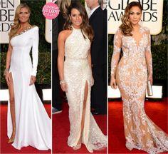 Heidi Klum,Lea Michele,Jennifer Lopez// Golden Globe 2013