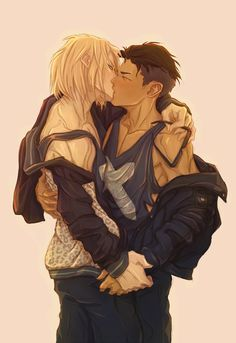 Yurio x Otabek all grown up! Note that I hypothesize that Yurio will end up taller >,> …