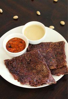ragi dosa recipe, instant ragi dosa - Yummy Indian Kitchen Indian Snacks, Indian Food Recipes, Vegetarian Recipes, Ragi Recipes, Ragi Dosa, Sarson Ka Saag, Masala Dosa Recipe, Veggie Stir Fry, Indian Breakfast