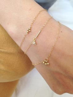 Thin x1 gold filled bracelet by CorailMenthe on Etsy
